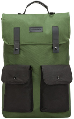 Consigned Twin Front Pocketed Backpack Green