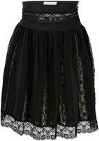 Pierre Balmain lace layered mini skirt