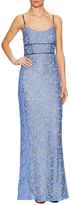 ABS by Allen Schwartz Lace Scalloped Inset Gown