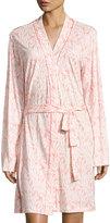 Cosabella Bella Vintage Palm-Print Jersey Robe, Pink Pattern