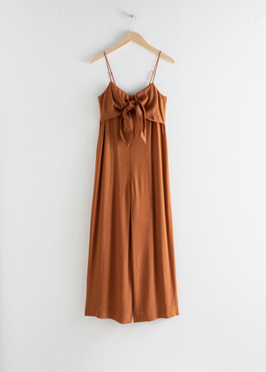 And other stories Relaxed Tie Bow Jumpsuit