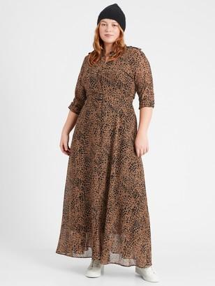 Banana Republic Heritage Sheer Maxi Shirt Dress