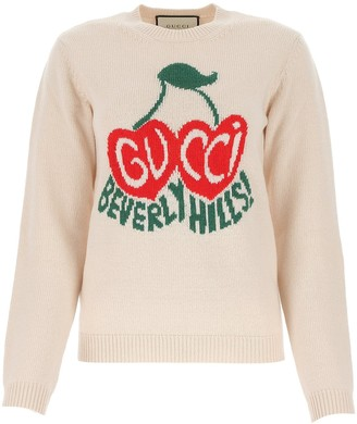 Gucci Cherry Intarsia Knitted Sweater