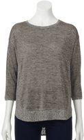 Dana Buchman Women's Marled Ribbed Sweater