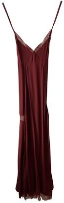 Off-White Burgundy Silk Dresses