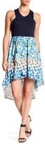 Matty M Hi-Lo Floral Print Dress