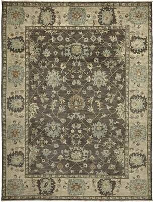 """Canora Grey One-of-a-Kind Behr Hand-Knotted 8'10"""" x 11'9"""" Wool Ochre Area Rug Canora Grey"""