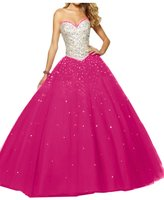 Angel Bride Gorgeous Sweetheart Ball Gowns Tulle Quinceanera Dresses for Juniors - US Size