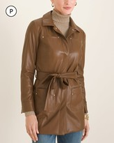 Chico's Chicos Petite Faux-Leather Utility Jacket
