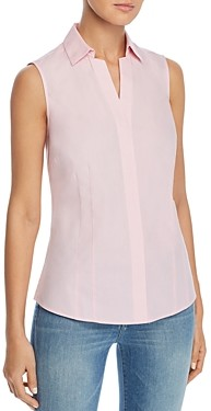 Foxcroft Taylor Sleeveless Non-Iron Cotton Shirt