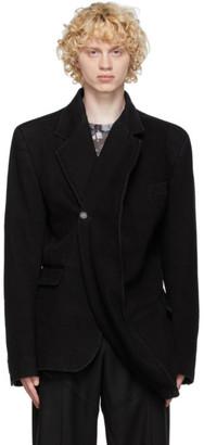 Y/Project Black Denim Twisted Blazer