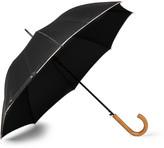 Paul Smith Walker Stripe-Trimmed Wood-Handle Umbrella