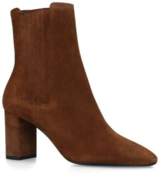 Saint Laurent Suede Mica Ankle Boots 75