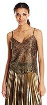 BCBGMAXAZRIA Women's Mady Metallic Lace Cami