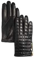 Kate Spade Bow-Quilted Leather Gloves