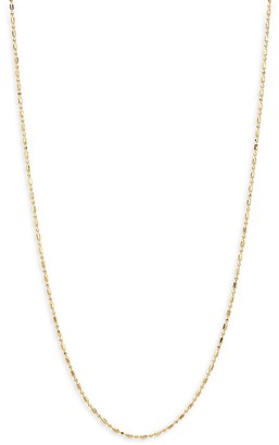 """Saks Fifth Avenue Made In Italy 14K Yellow Gold Bead Bar Chain Necklace/22"""" x 1mm"""