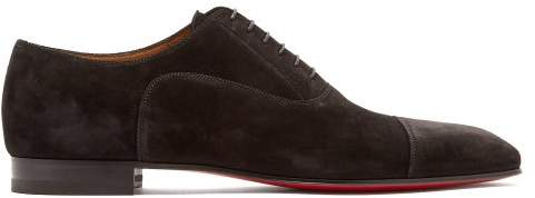 buy online 56079 c3027 Greggo Suede Derby Shoes - Mens - Black