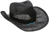 San Diego Hat Company Women's Cowboy Hat with Cord Tie and Tuqoise Trim