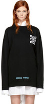 Off-White Ssense Exclusive Black Oversized Globe Sweatshirt