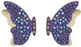 Betsey Johnson Purple Butterfly Stud Earrings (Purple) Earring