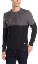 Dickies Men's Connor Color-Block Fisherman Cable-Knit Sweater