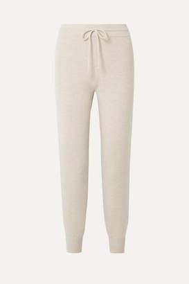 Theory Wool-blend Track Pants - Cream