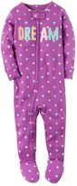 Carter's Baby Girl Print Applique Footed Pajamas