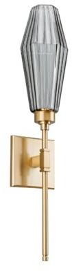 Hammerton Studio Aalto ADA Indoor 1-Light LED Armed Sconce Finish: Metallic Beige Silver, Shade Color: Optic Rib Bronze