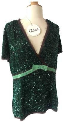 Chloé Green Glitter Top for Women Vintage