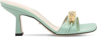 Gucci 75mm Dora Embellished Leather Sandals