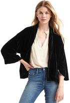 Gap Velvet swing jacket