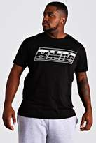 BoohoomanBoohooMAN Mens Black Big & Tall MAN Branded T-Shirt With Rubber Tab, Black