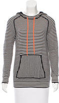 Tory Burch Striped Hooded Jacket