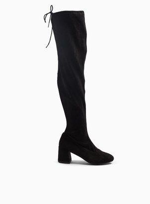 Miss Selfridge WIDE FIT OSLO Black Over The Knee Boots