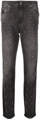 John Richmond Denim Tapered Embellished Jeans