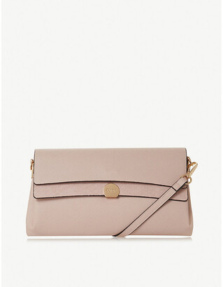 Dune Elline embossed faux-leather clutch