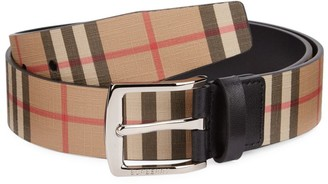 Burberry London Check Leather Belt