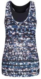 Salt Spirited Layered Bra Vest - XS - Grey/Blue
