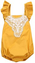 LUNIWEI Newborn Toddler Infant Baby Girl Romper Lace Sunsuit Outfits