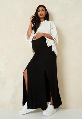 Missguided Split Front Maternity Maxi Skirt