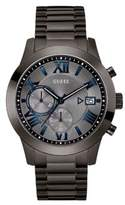 GUESS Iconic Atlas Gunmetal-Tone Stainless Steel Chronograph Bracelet Watch