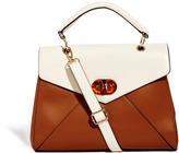 Aldo Avenderre Cream & Tan Twist Lock Bag