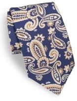 Isaia Paisley-Print Silk Tie