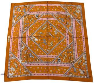 Salvatore Ferragamo Orange Silk Scarves