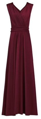 Dorothy Perkins Womens Jolie Moi Burgundy Wrap Maxi Dress, Burgundy
