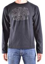 Evisu Men's Black Cotton T-shirt.