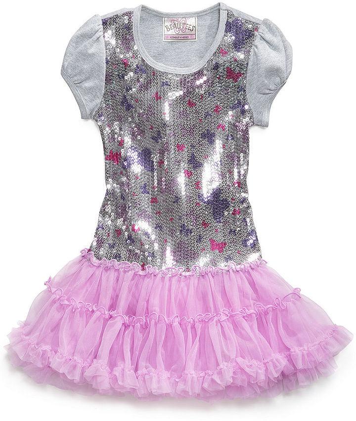 Beautees Girls Dress, Little Girls Sequin Tutu Dress