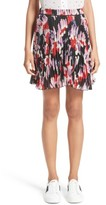 Marc Jacobs Women's Pleated Print Silk Skirt