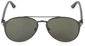 Cartier 56MM Matte Aviator Sunglasses