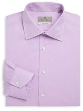 Canali Regular-Fit Mini Jacquard Cotton Dress Shirt